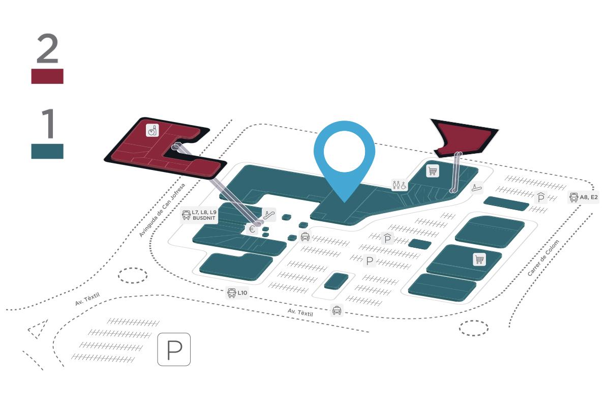 Mapa Cinesa Parc Vallès