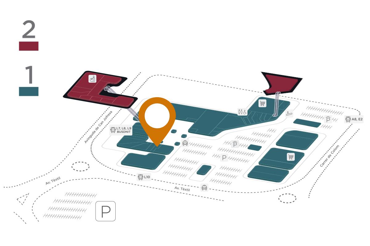 Mapa El Mexicano Parc Vallès