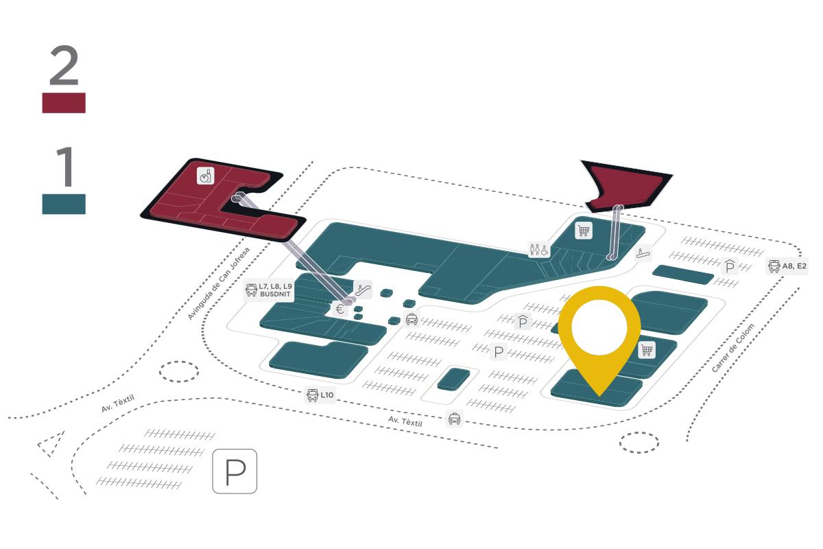 Mapa JYSK Parc Vallès
