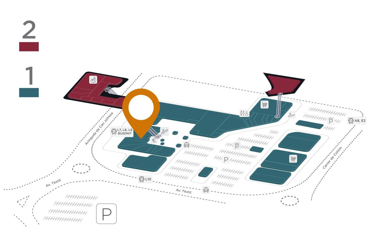 Mapa KFC Parc Vallès
