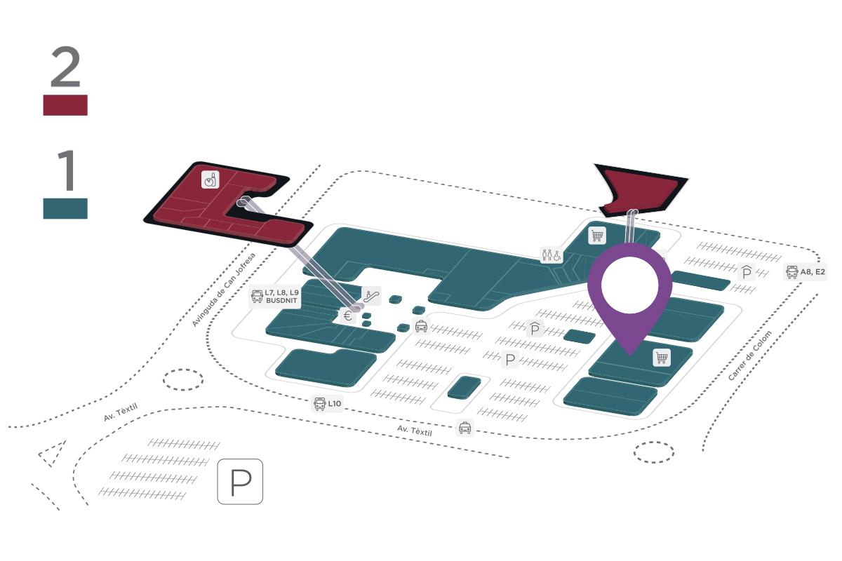 Mapa Lidl Parc Vallès