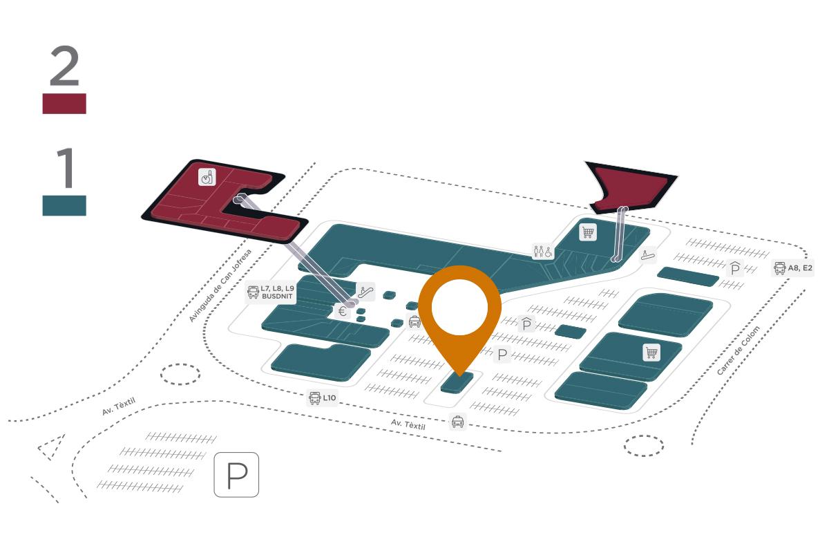 Mapa McDonald's Parc Vallès