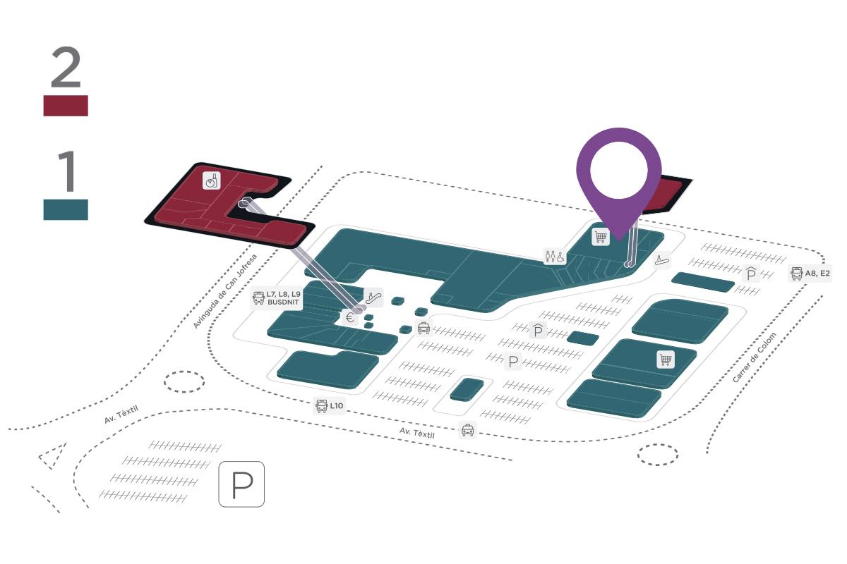 Mapa Mercadona Parc Vallès