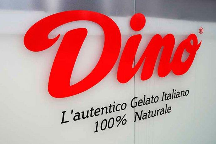 Detall logo Dino Gelato Italiano