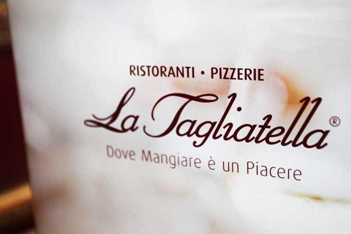 Detall logo carta La Tagliatella