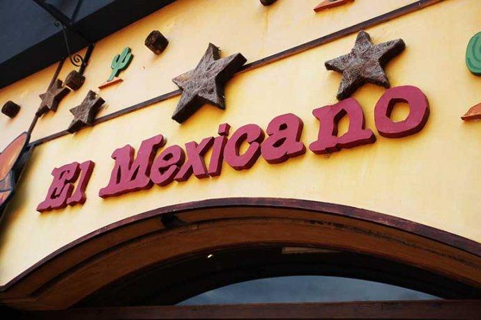 Detall retol El Mexicano