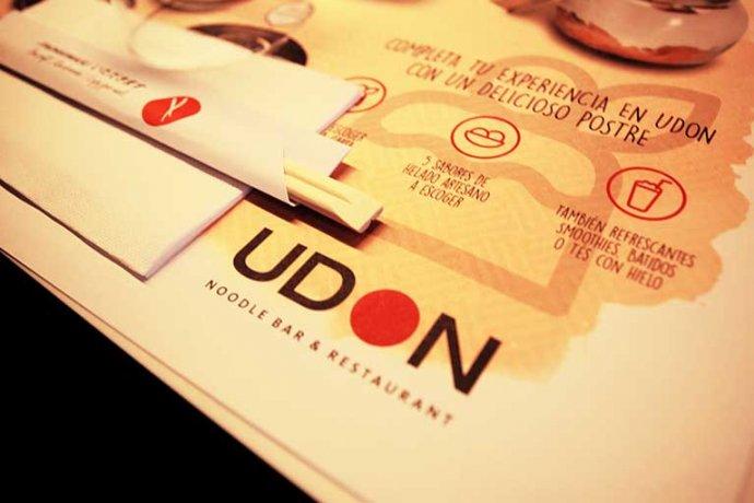 Detall logo UDON cuina japonesa